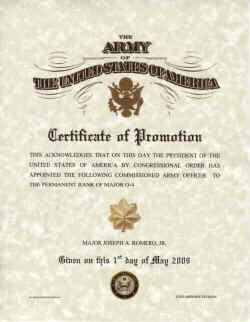 Army promotions certificates yelopaper Images