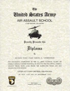 Air Assault Certificate