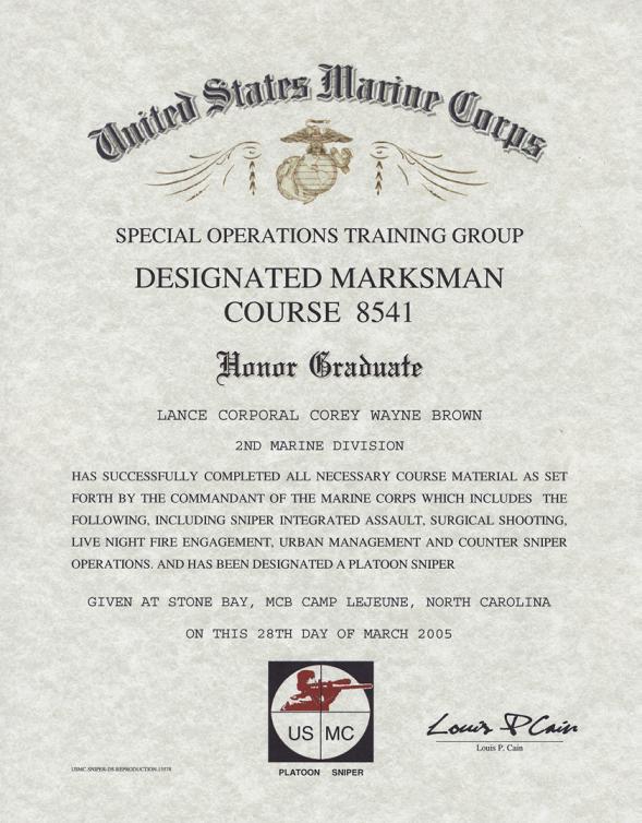 1997,Camp Lejeune,Field Medical Service School,Class 9701,4th Platoon
