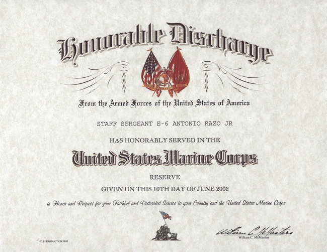 Us Marine Corps Certificates Mandegarfo